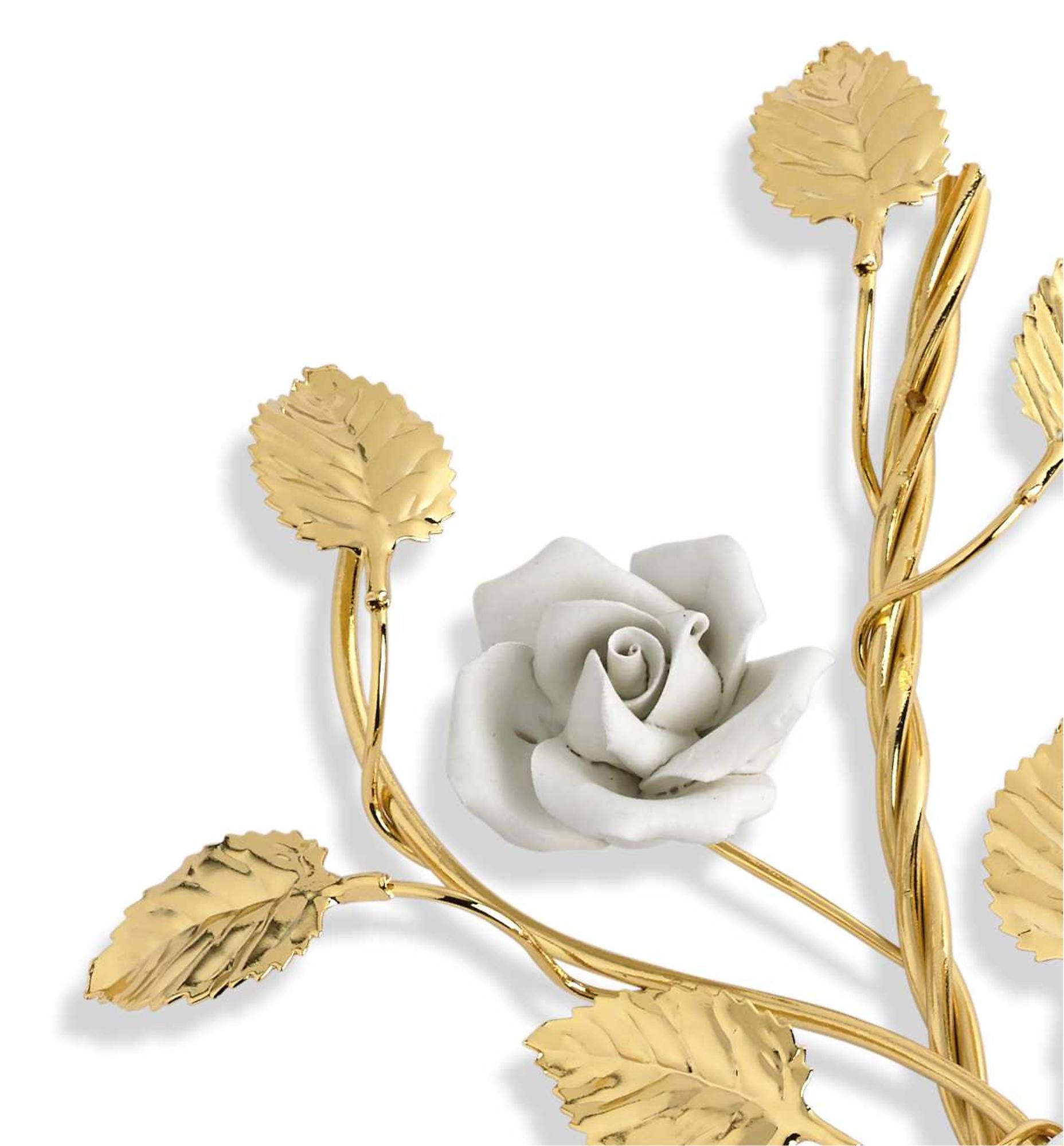 Ramo Ondulado dos rosas ceramica