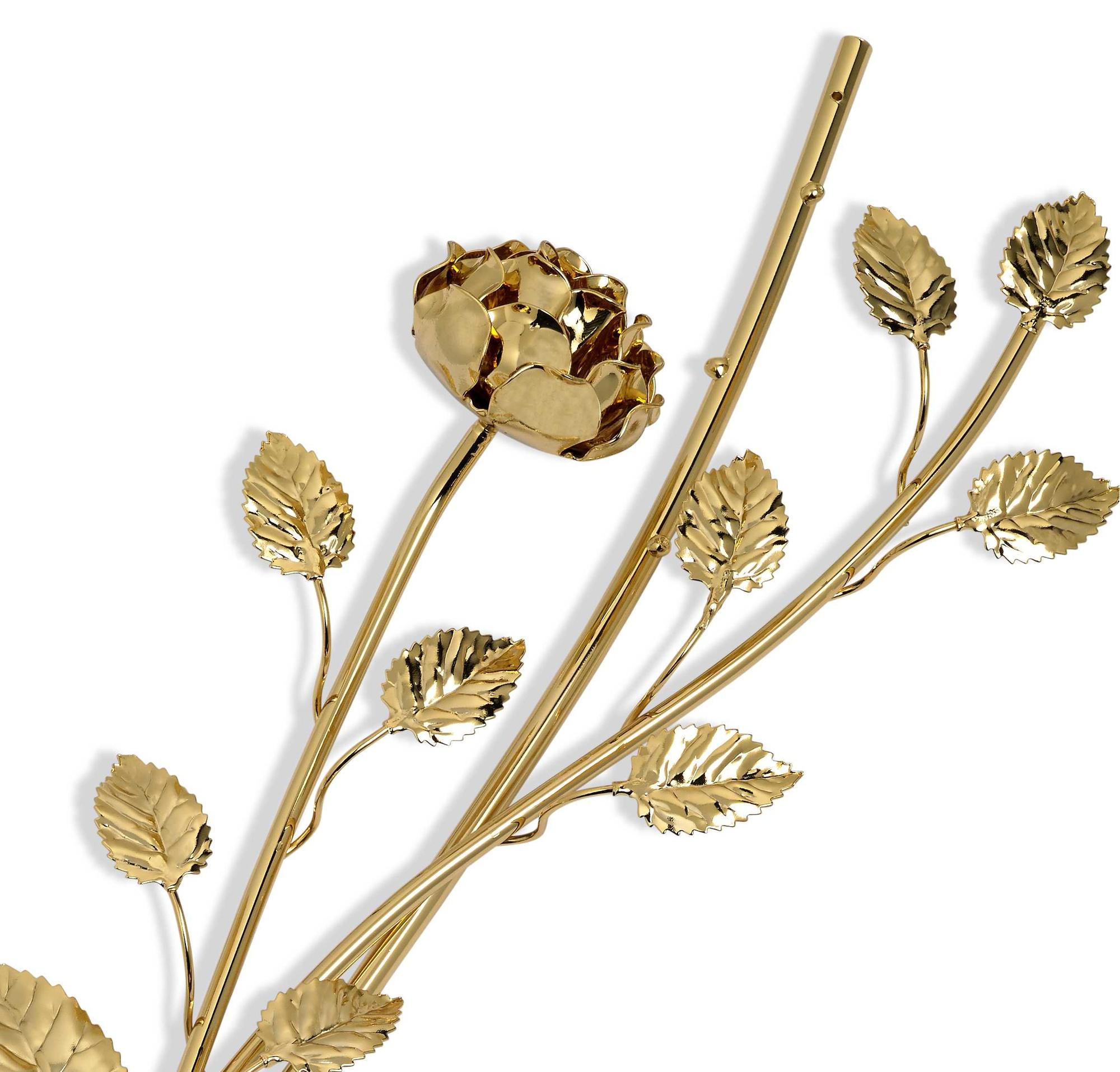 Ramo Rosa oro y hojas